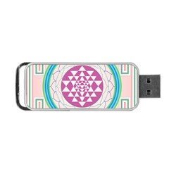 Mandala Design Arts Indian Portable Usb Flash (one Side) by Nexatart