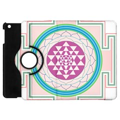 Mandala Design Arts Indian Apple Ipad Mini Flip 360 Case by Nexatart