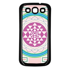 Mandala Design Arts Indian Samsung Galaxy S3 Back Case (black) by Nexatart