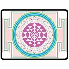 Mandala Design Arts Indian Double Sided Fleece Blanket (large)