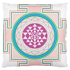 Mandala Design Arts Indian Standard Flano Cushion Case (one Side)