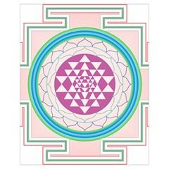 Mandala Design Arts Indian Drawstring Bag (small)
