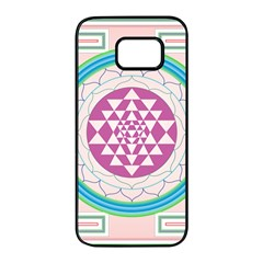 Mandala Design Arts Indian Samsung Galaxy S7 Edge Black Seamless Case