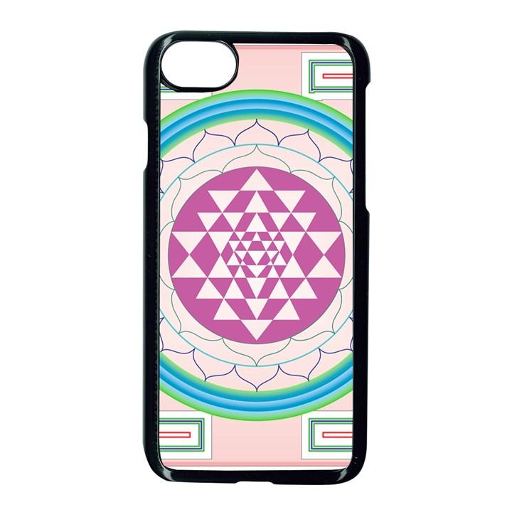 Mandala Design Arts Indian Apple iPhone 7 Seamless Case (Black)