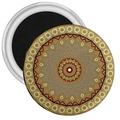 Mandala Art Ornament Pattern 3  Magnets by Nexatart