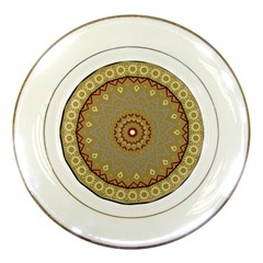 Mandala Art Ornament Pattern Porcelain Plates