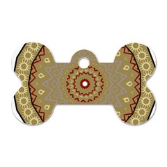 Mandala Art Ornament Pattern Dog Tag Bone (two Sides)