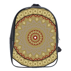 Mandala Art Ornament Pattern School Bag (large)