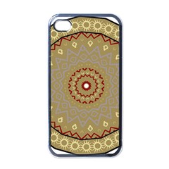 Mandala Art Ornament Pattern Apple Iphone 4 Case (black)