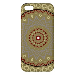 Mandala Art Ornament Pattern Apple Iphone 5 Premium Hardshell Case by Nexatart