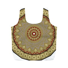 Mandala Art Ornament Pattern Full Print Recycle Bags (m)