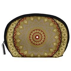 Mandala Art Ornament Pattern Accessory Pouches (large)