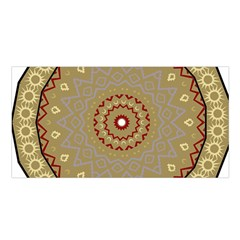 Mandala Art Ornament Pattern Satin Shawl