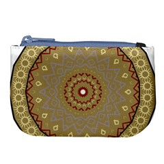 Mandala Art Ornament Pattern Large Coin Purse