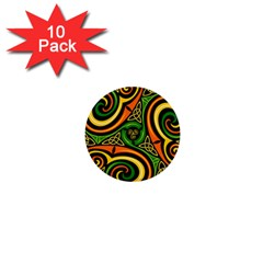 Celtic Celts Circle Color Colors 1  Mini Buttons (10 Pack)
