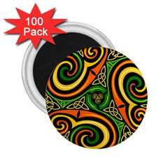 Celtic Celts Circle Color Colors 2 25  Magnets (100 Pack)