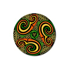 Celtic Celts Circle Color Colors Rubber Round Coaster (4 Pack)  by Nexatart