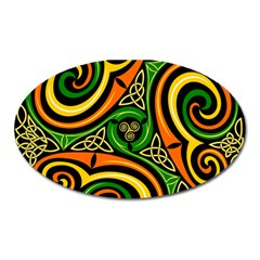 Celtic Celts Circle Color Colors Oval Magnet by Nexatart