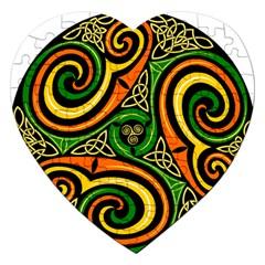 Celtic Celts Circle Color Colors Jigsaw Puzzle (heart)