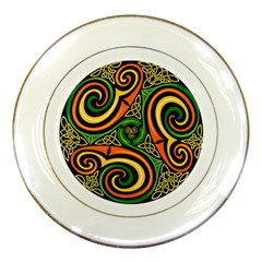 Celtic Celts Circle Color Colors Porcelain Plates by Nexatart
