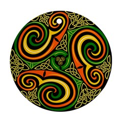 Celtic Celts Circle Color Colors Round Ornament (two Sides) by Nexatart