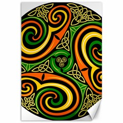 Celtic Celts Circle Color Colors Canvas 12  X 18