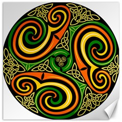 Celtic Celts Circle Color Colors Canvas 20  X 20