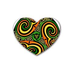 Celtic Celts Circle Color Colors Rubber Coaster (heart)
