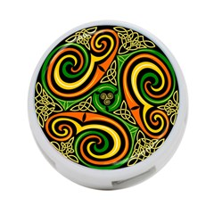Celtic Celts Circle Color Colors 4 Port Usb Hub (two Sides)  by Nexatart