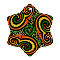 Celtic Celts Circle Color Colors Ornament (snowflake)