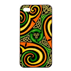 Celtic Celts Circle Color Colors Apple Iphone 4/4s Seamless Case (black)