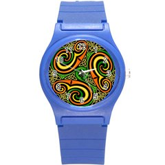 Celtic Celts Circle Color Colors Round Plastic Sport Watch (s) by Nexatart