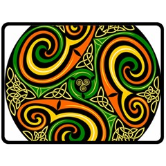 Celtic Celts Circle Color Colors Double Sided Fleece Blanket (large)  by Nexatart