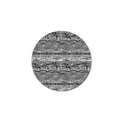 Ethno Seamless Pattern Golf Ball Marker (4 Pack)