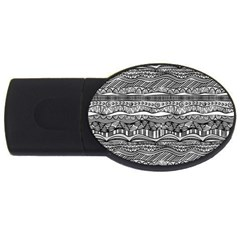 Ethno Seamless Pattern Usb Flash Drive Oval (4 Gb)