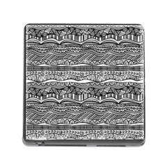 Ethno Seamless Pattern Memory Card Reader (square)