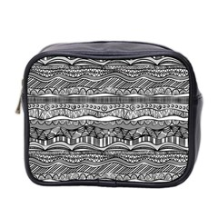 Ethno Seamless Pattern Mini Toiletries Bag 2 Side