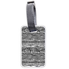 Ethno Seamless Pattern Luggage Tags (one Side)  by Nexatart