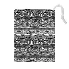 Ethno Seamless Pattern Drawstring Pouches (extra Large)