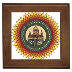 Building Mandala Palace Framed Tiles