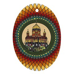 Building Mandala Palace Ornament (oval)
