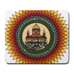 Building Mandala Palace Large Mousepads