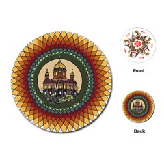 Building Mandala Palace Playing Cards (round)