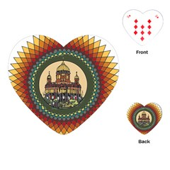 Building Mandala Palace Playing Cards (heart)