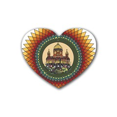 Building Mandala Palace Heart Coaster (4 Pack)