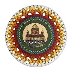 Building Mandala Palace Round Filigree Ornament (two Sides)