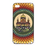 Building Mandala Palace Apple iPhone 4/4s Seamless Case (Black) Front