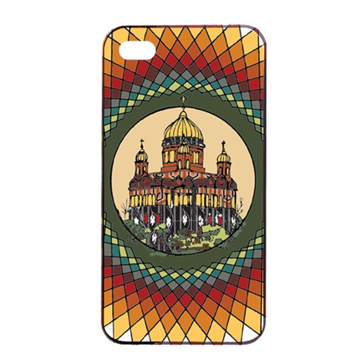 Building Mandala Palace Apple iPhone 4/4s Seamless Case (Black)