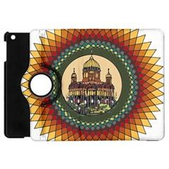 Building Mandala Palace Apple Ipad Mini Flip 360 Case