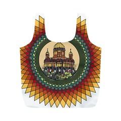 Building Mandala Palace Full Print Recycle Bags (m)